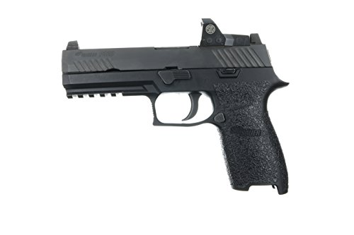 TALON Grips Rear Wrap Grip for Sig Sauer P250/P320 Full Size/Carry Rubber, Black Rubber Fits Medium (Grip Sig)