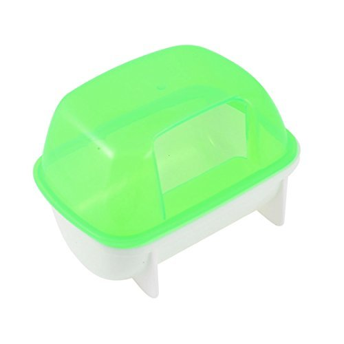 DealMux Pet Hamster Bathroom Bath Sand Room Sauna Toilet Case Box 9cm Height Green White