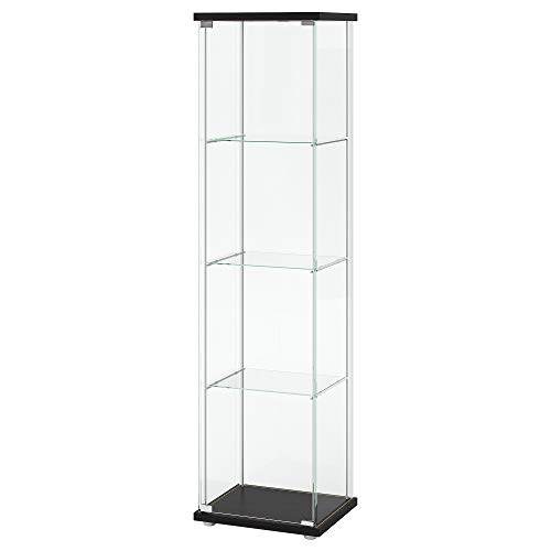 IKEA 101.192.06 Glass-Door Cabinet, Black-Brown