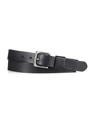 Polo Ralph Lauren Mens Vachetta Leather Belt Black Size - Ralph Lauren Polo Friday Black