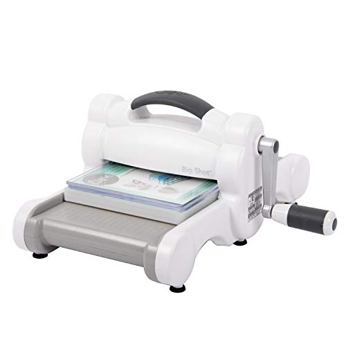 Sizzix Big Shot 660200 A5 Manual Die Cutting and Embossing Machine 6 in (15.24 cm) Opening, White