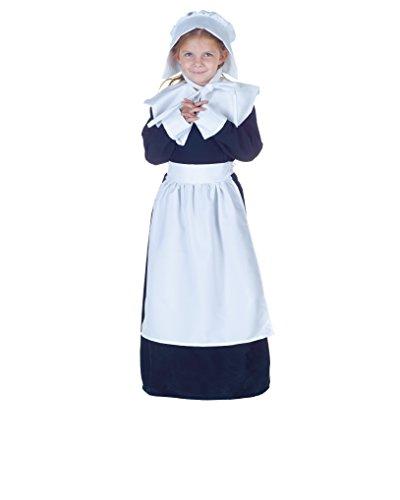 Underwraps Big Girl's Pilgrim Girl Costume, Small Childrens Costume, Multi, -