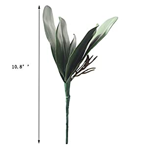 UUPP 4 pcs Artificial Shrubs Plants Fake Ferns Artificial Butterfly Orchid Leaves Bush Flowers for Indoor Outside Home Garden Office Decor, 10.8'' 3