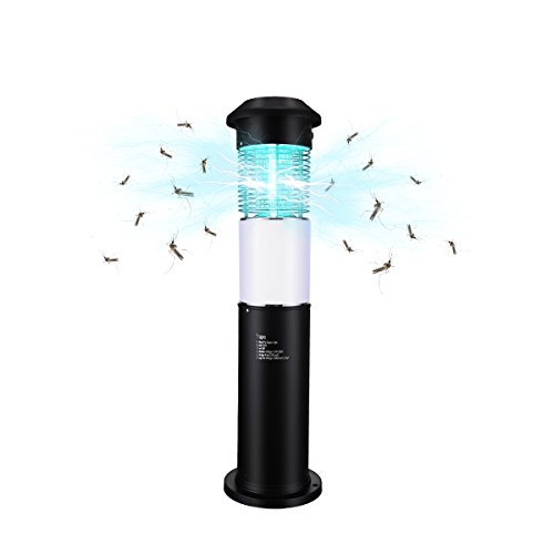 Trapro Electronic Insect Killer Bug Zapper with Dusk to Dawn Light Sensor and 5,000 Volt Powerful Killing Grid, for Outdoor Use Only