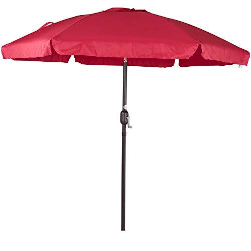 Sundale Outdoor 7.5 Feet Aluminum Beach Drape Umbrella Table Market Umbrella with Crank and Push Button Tilt for Patio