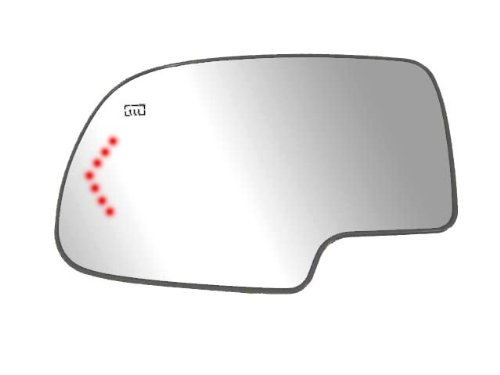 (Fit System 44058 Driver Side Heated Non-Dimming Mirror Glass with Backing Plate and LED Arrow Turn Signal)