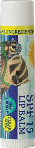 Badger SPF 15 Clear Zinc Oxide Sunscreen Lip Balm ()