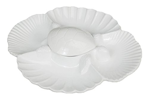 Turtle Back Covered White Ceramic Appetizer ()