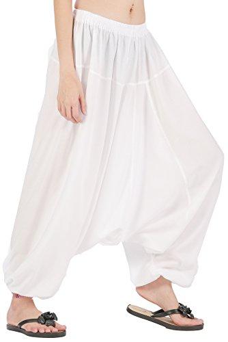 CandyHusky Men Women Elastic Baggy Hippie Boho Gypsy Aladdin Yoga Harem Pants -