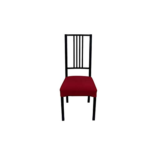 1/2/4 Pcs Stretch Kitchen Chair Covers Jacquard Dining Room Seat Protector Covers Removable Elastic Seat Case Beige Slipcover,Burgundy,1 Pcs