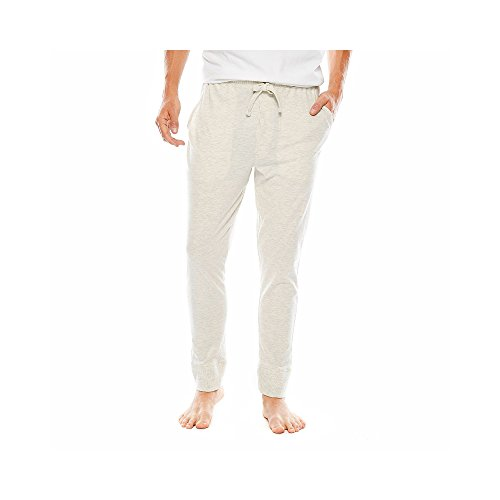 IZOD Men's Big & Tall Sueded Jersey Jogger Pants (Large Tall, Natural Heather) ()