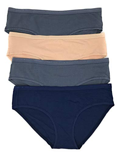 (Victoria's Secret Hiphugger Panty Set of 4 Medium Gray/Nude/Gray/Navy)