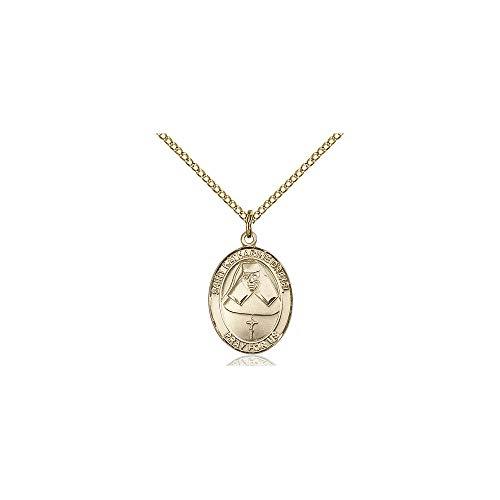 DiamondJewelryNY Religious Medal, 14kt Gold Filled St. Katharine Drexel Pendant