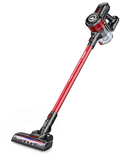 Cordless Vacuum, ONSON Stick Vacuum Cleaner, Powerful Cleaning Lightweight Handheld Vacuum with Rechargeable Lithium Ion Battery ()