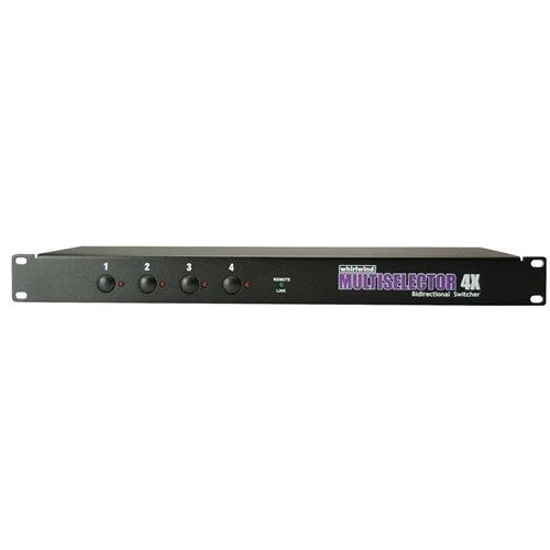 Whirlwind MultiSelector 4-channel 1 x 4 silent instrument switch by Whirlwind