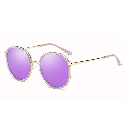 Caja de DT 3 Redondas Gafas Conducción de Gafas Redonda polarizadas Color Cara Grande Sol Gafas Femeninas 3 Sol de de PqHZxXrqw