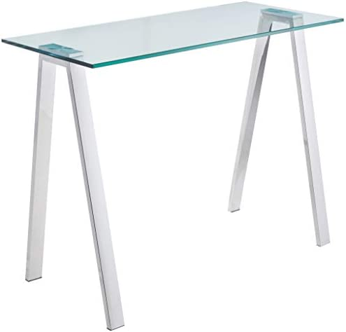 Reviewed: Cortesi Home Trixie Glass Top Desk