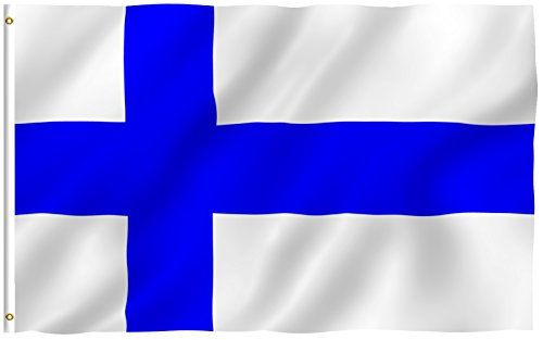ANLEY [Fly Breeze] 3x5 Foot Finland Flag - Vivid Color and UV Fade Resistant - Canvas Header and Double Stitched - Finnish Finn National Flags Polyester with Brass Grommets 3 X 5 Ft