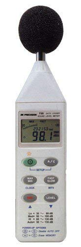 B&K Precision 735 Datalogging Digital Sound Level Meter with RS-232 Software and Cable (Tester Rs 232)