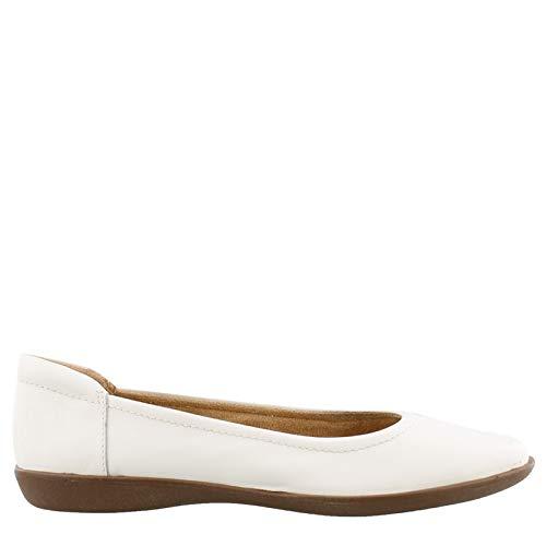 (Women's Natural Soul, Flexy Flats White 10 M)