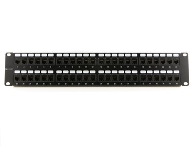 CAT6 High-Density Feed Through Patch Panel - 48 Port, 2U