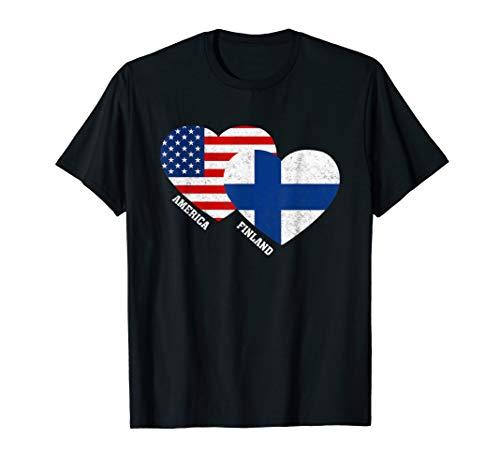 Finland Flag T-Shirt Finnish American Flag Gift