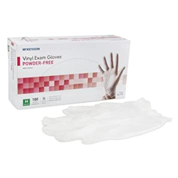 MCK11131310 - Exam Glove McKesson NonSterile Powder Free Vinyl Ambidextrous Smooth Clear Not Chemo Approved Medium