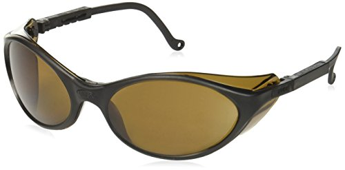 Uvex S1603X Bandit Safety Eyewear, Black Frame, Espresso UV Extreme Anti-Fog Lens