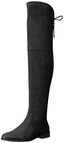 Marc Fisher Women's Mfhumor2 Riding Boot, Black, 6.5 M US