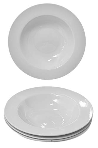 Set 4 High-Glaze White Ceramic 10.5