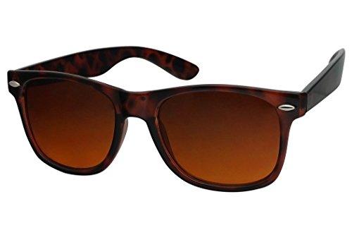 8e48b4c10ed SunglassUP Colorful Classic 80 s Vintage Blue Blockers Lens Sunglasses ( Tortoise