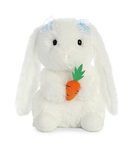 Aurora World Plush Garden Bunny with Blue Bows (Bunny Plush Blue Rabbit)