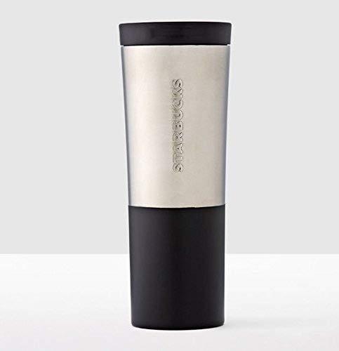 Starbucks Brushed Silver & Black Stainless Steel Tumbler (20 fl oz)