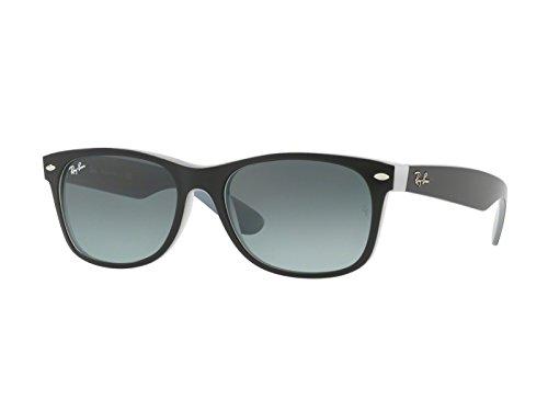 Ray-Ban-Mens-Sunglasses-Black-MatteGrey-Plastic-Non-Polarized-55mm