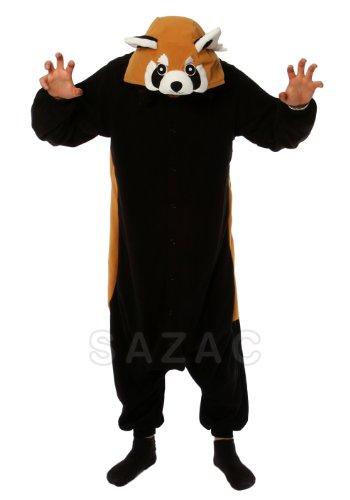 Red Panda Kigurumi (Adults XL), Orange Black & White -