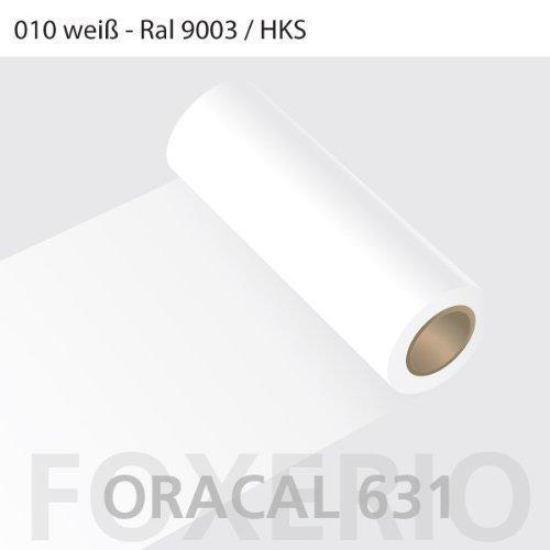 Your Design Klebefolien für Möbel - Oracal 631 - 31cm Rolle - 5m (Laufmeter) - Weiß | matt, A22oracal-631-5m-31cm-02-kl