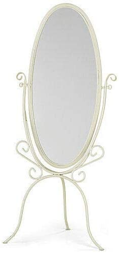 Boutique Cheval Floor Mirror in Ivory 60 Inches H