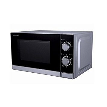 Sharp R-20CT(S) Microwave Oven, Small, Silver