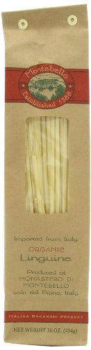 Montebello Organic Pasta, Linguine, 16-Ounce Bag (Pack of 5)