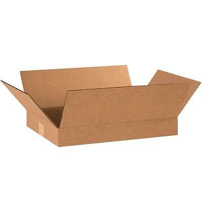 Flat Corrugated Boxes, 18 x 12 x 2, Kraft, (18122) - 25/Bundle (1 Bundle)