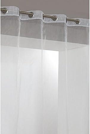 Rideau Voilage Organza Hauteur 300cm Uni 8 Oeillets Blanc Amazon Fr