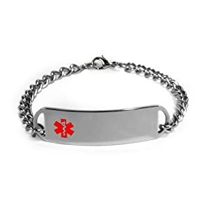 Well-Being-Matters 31CLG-1IHDL._SS300_ Diabetes METFORMIN Medical ID Alert Bracelet with Embossed Emblem from Stainless Steel. D-Style, Premium Series.