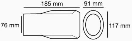 Boloromo 286-D Auspuff Blende Endrohr Endrohrblende Edelstahl Auspuffblende Chrom Universal