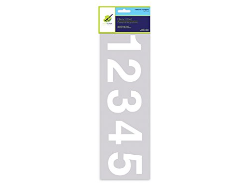 Color Factory PA715 6 Piece Numbers/Symbols Stencil Sheets, 3'
