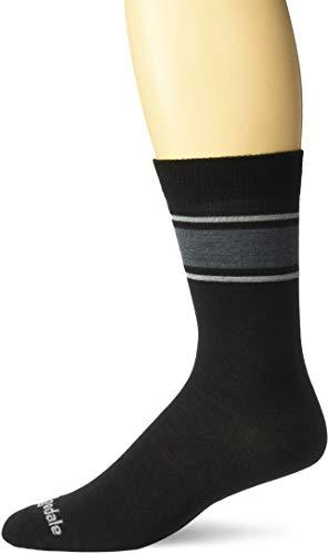 Bridgedale Men's Everyday - Merino Endurance Liner Socks, Black/Light Grey, Large
