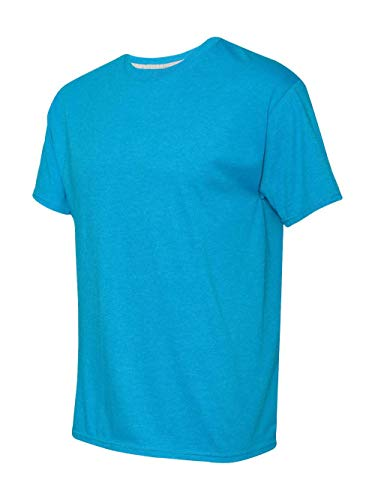 Hanes Men's 2 Pack X-Temp Performance T-Shirt, Neon Blue Heather, Small