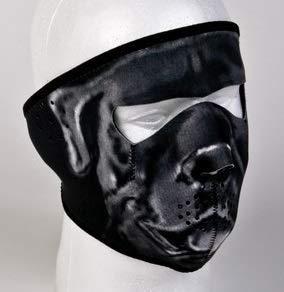 Graphic Motorcycle Mask Face (Billys Biker Gear Neoprene Gray Bulldog Motorcycle Face Mask)