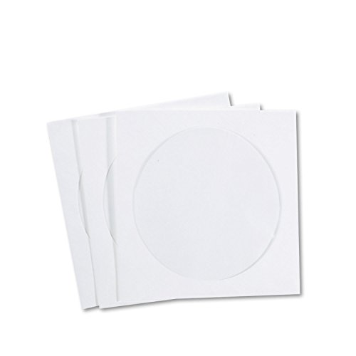- QUALITY PARK Products R7050 CD/DVD Sleeves, Tyvek, 100/Box