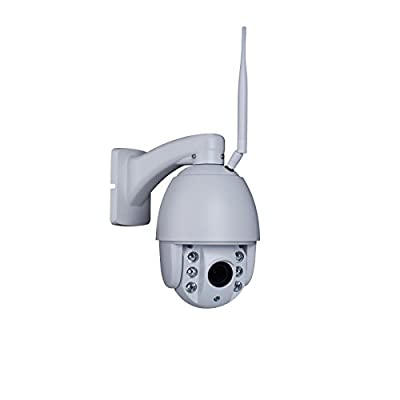 ANRAN 1080P HD Wireless Outdoor PTZ Dome IP Network Camera Pan Tilt 4x Optical Zoom Middle Speed 4 inch 6 IR CCTV Surveillance Cam