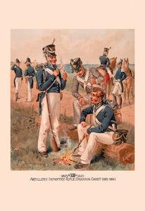 Rifle, Dragoon and Cadet 1813-1816 Paper poster printed on 12 x 18 stock. ()